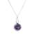 Amethyst and moonstone pendant necklace, 'Mystical Star' - Amethyst and Moonstone Pendant Necklace from Thailand (image 2a) thumbail