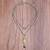 Prehnite and quartz link pendant necklace, 'Natural Royalty' - Prehnite and Quartz Link Pendant Necklace from Thailand (image 2b) thumbail