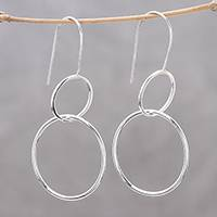 Sterling silver dangle earrings Pretty Rings (Thailand)