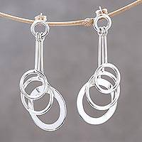 Sterling silver dangle earrings Lively Rings (Thailand)