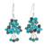 Sterling silver and calcite beaded dangle earrings, 'Beaded Forest' - Sterling Silver and Calcite Beaded Dangle Earrings (image 2a) thumbail