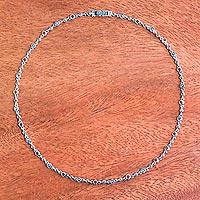 Carnelian link necklace,