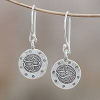 Silver dangle earrings, 'Karen Pisces' - Karen Silver Pisces Dangle Earrings from Thailand