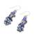 Lapis lazuli and cultured pearl cluster earrings, 'Night Stones' - Lapis Lazuli and Cultured Pearl Cluster Earrings (image 2b) thumbail