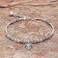 Labradorite beaded bracelet, 'Karen Beauty' - Labradorite Beaded Bracelet from Thailand