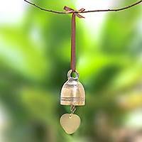 Brass bell, 'Golden Sound' - Simple Brass Bell Crafted in Thailand