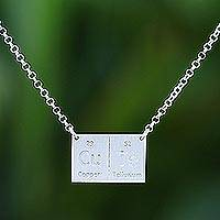 Sterling silver pendant necklace, 'Formula for Cute' - Thai Pendant Necklace Handcrafted in Sterling Silver