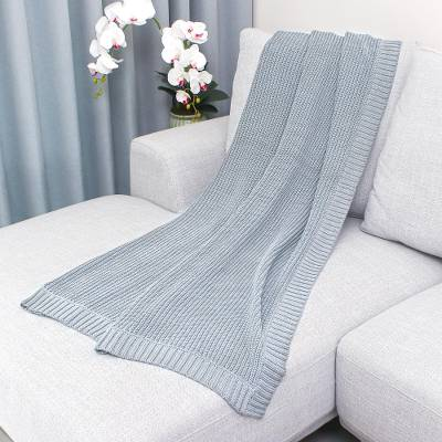 Cotton throw blanket, 'Grey Comfort' - All Cotton Throw Blanket in Grey from Thailand
