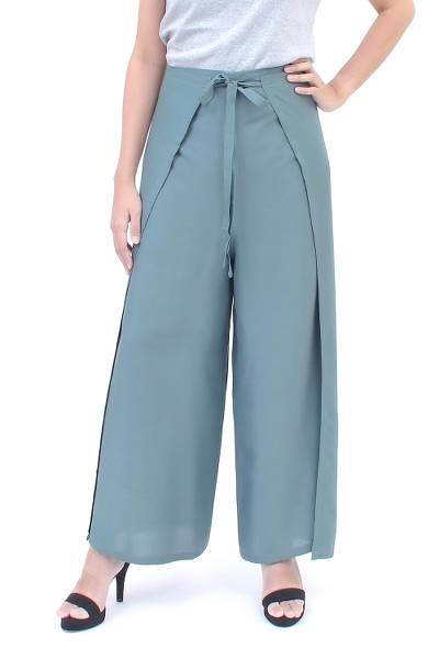 Rayon wrap pants, Summer Chill in Grey