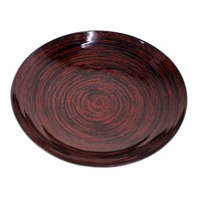 Lacquered bamboo plate