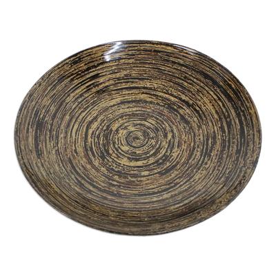 Bamboo Lacquerware Decorative Plate