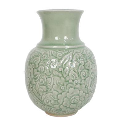 Celadon Ceramic Vase