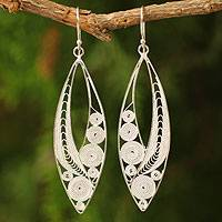 Featured review for Sterling silver filigree earrings, Tendrils