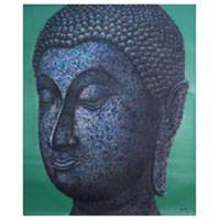 'Peaceful Symbol' - Acrylic Buddha Painting