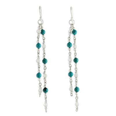 Beaded Moonstone Earrings