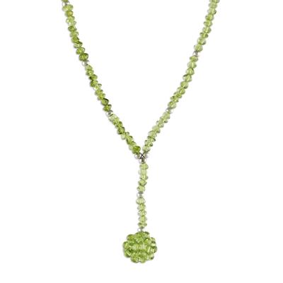 Beaded Peridot Necklace