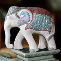 Ceramic statuette Elephant Regalia Thailand