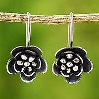 Silver floral earrings, Mountain Flowers