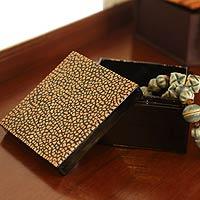 Eggshell mosaic box,
