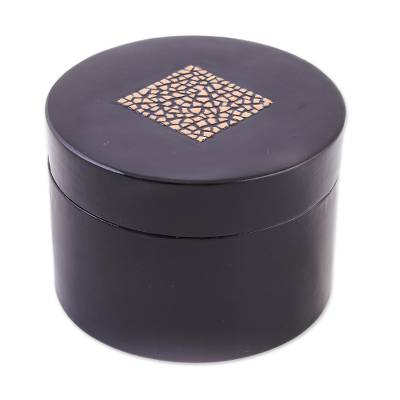 Eggshell mosaic box (Round)