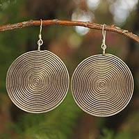Sterling silver dangle earrings The Maze (Thailand)