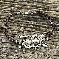 Silver pendant bracelet, 'Silver Kite' (Thailand)