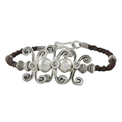 Sterling silver pendant bracelet