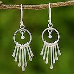 Sterling Silver Chandelier Earrings, 'Catch the King's Eye'