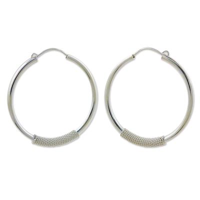 Fair Trade Sterling Silver Hoop Earrings