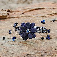 Lapis lazuli wrap bracelet, 'Blue Bouquet' (Thailand)