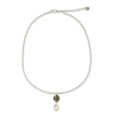 Handcrafted Pearl and Jade Necklace