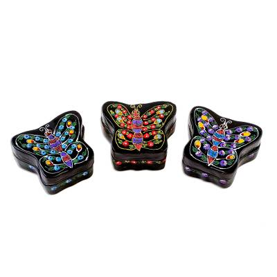Lacquered wood boxes (Set of 3)