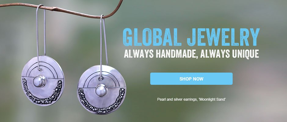Global Jewelry - always handmade, always unique. Shop now!