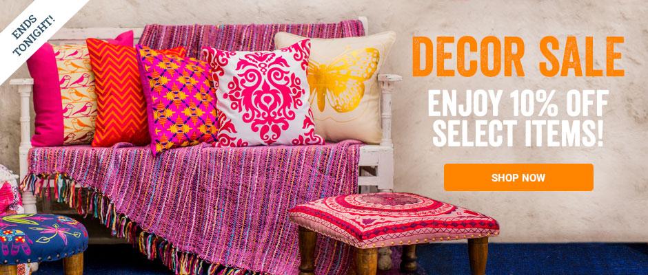 Decor Sale - enjoy 10% off select items! Shop now.