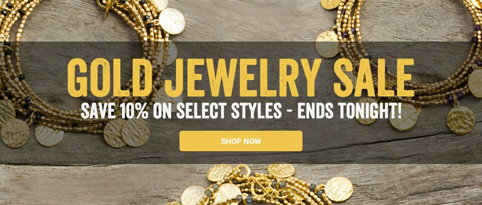 Gold jewelry sale - save 10% on select styles. Shop now!