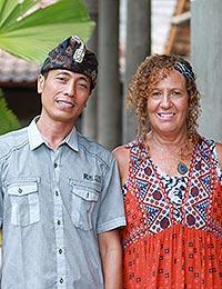 Wayan Arta and Sharon
