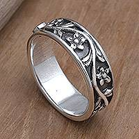 Peridot band ring, 'Gift from the Sun'