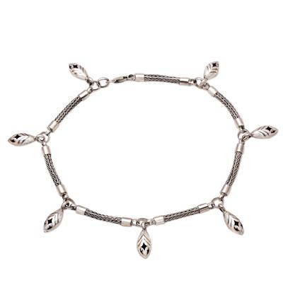 Sterling silver anklet, 'New Star' - Sterling silver anklet