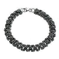 Sterling silver link bracelet, 'Daisy Chain' - Handmade Sterling Silver Bracelet from Indonesia