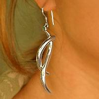 Earrings, 'Waves' - Earrings