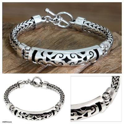 Sterling silver braided bracelet, 'Blessing' - Sterling silver braided bracelet