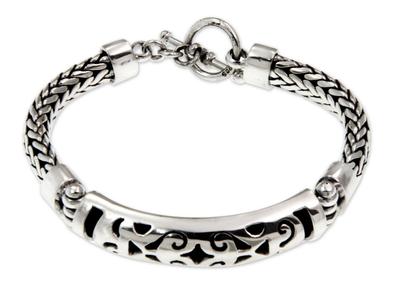 Sterling silver braided bracelet, 'Blessing' - Sterling silver braided bracelet