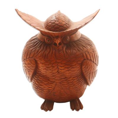 Indonesian Wood Bird Sculpture