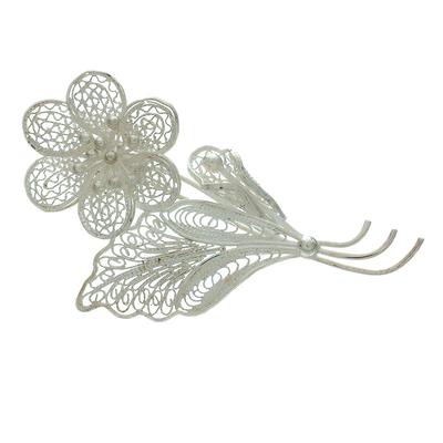 Sterling silver brooch pin