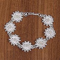 Sterling silver filigree bracelet,
