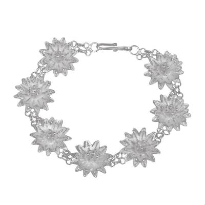 Sterling silver filigree bracelet