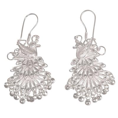 Animal Themed Sterling Silver Chandelier Earrings