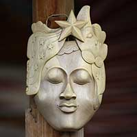 Wood mask, 'Goddess of the Moon and Stars'