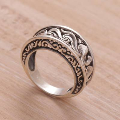 cheap silver signet ring blogs - Artisan Crafted Sterling Silver Band Ring