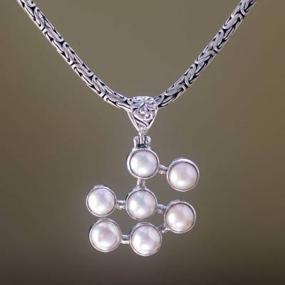 Pearl pendant necklace, Seven Clouds